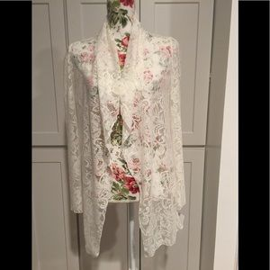 PRETTY LACE COVER JACKET. NEW
